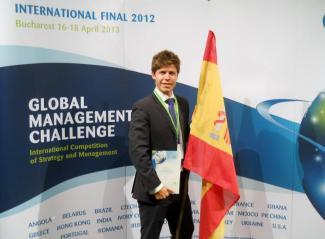 Ignacio Izaga Mañas en la Final Internacional de Bucarest